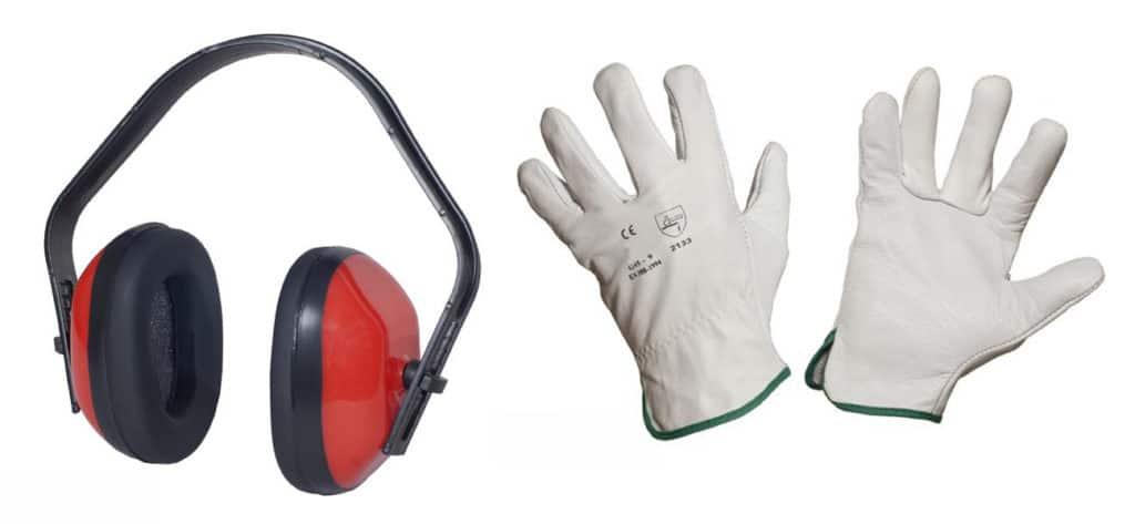 cuffie auricolari guanti