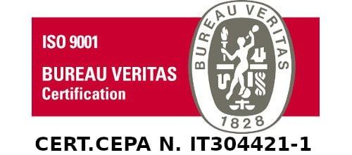 Azienda certificata CEPA UNI EN 16636